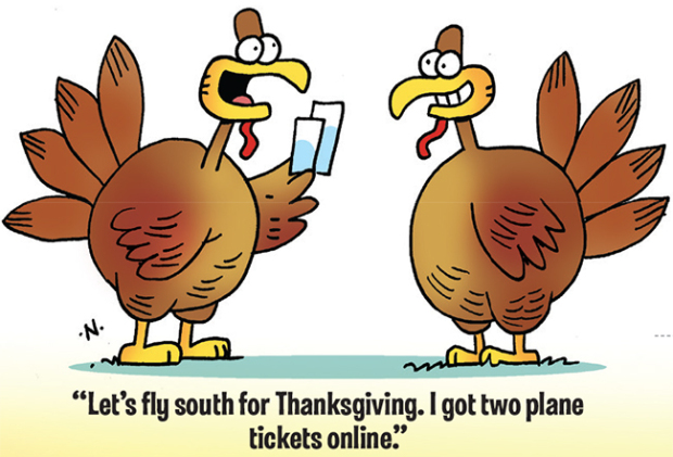 turkey flight - Free funny thanksgiving photos