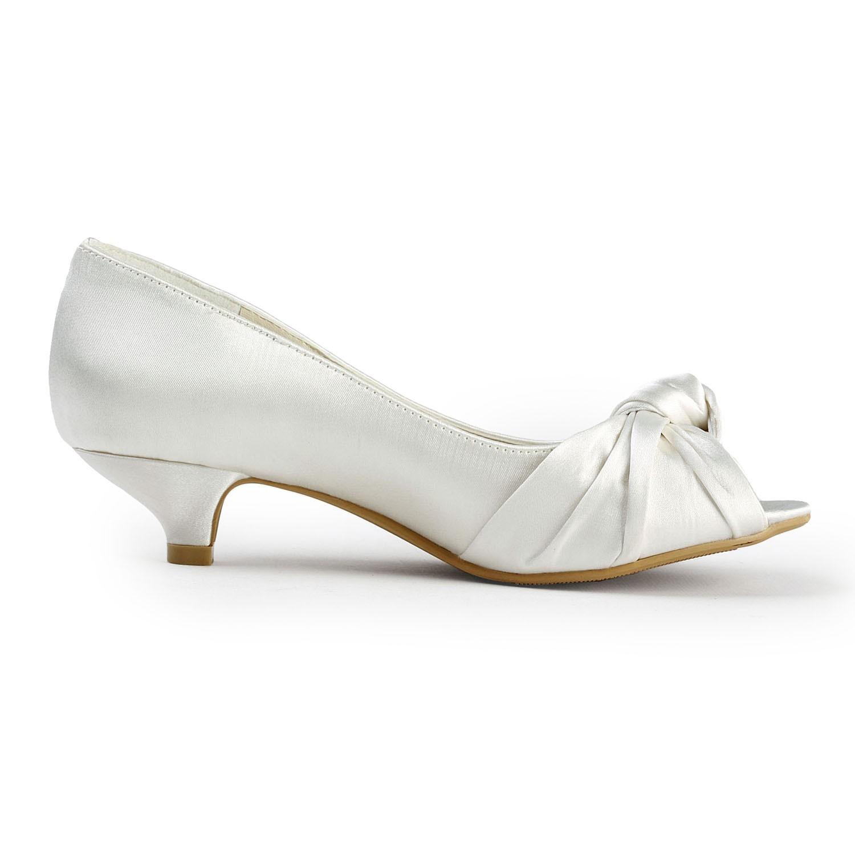 White Wedding Shoes Low Heel