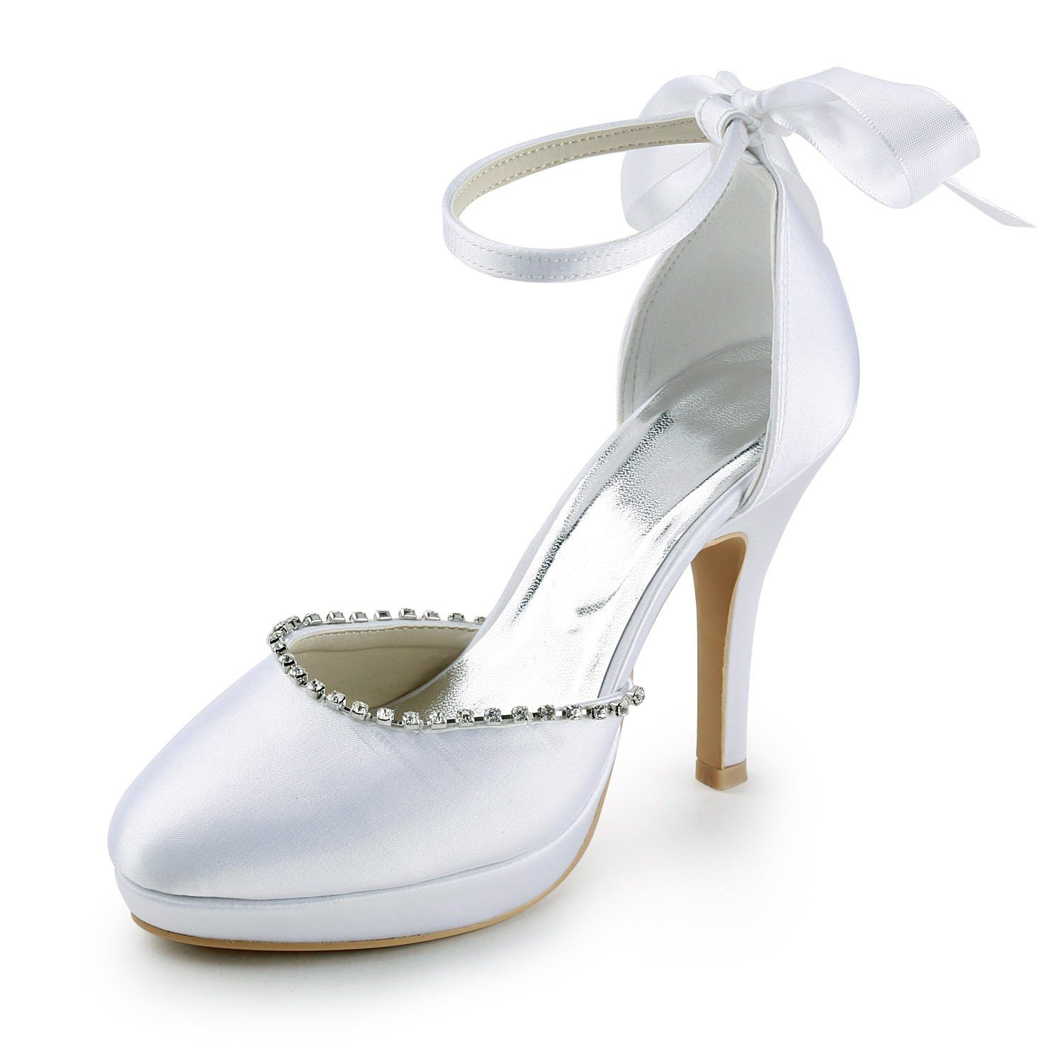 Brides will also find wide width wedding shoes, blue wedding shoes, ivory wedding shoes, purple wedding shoes, and many other colors. Whether the bride is looking for a flat ballerina bridal shoe or a four-inch platform wedding shoe, she will find everything at cripatsur.ga