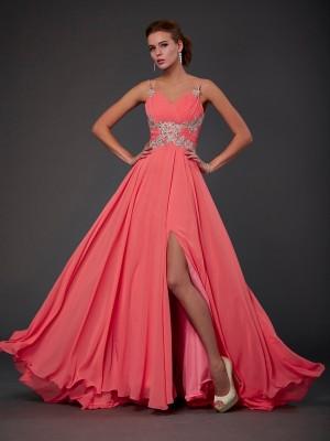 A-Line/Princess Scoop Sleeveless Lace Short Chiffon Dresses