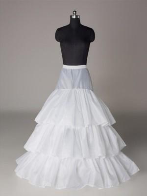 Nylon A-Line 3 Tier Floor Length Slip Style/Wedding Petticoats