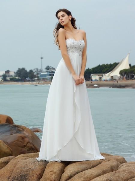 Sweetheart Beach Wedding Dresses - Hebeos Online