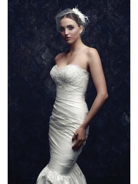 Beautiful Net Feather Wedding Veils