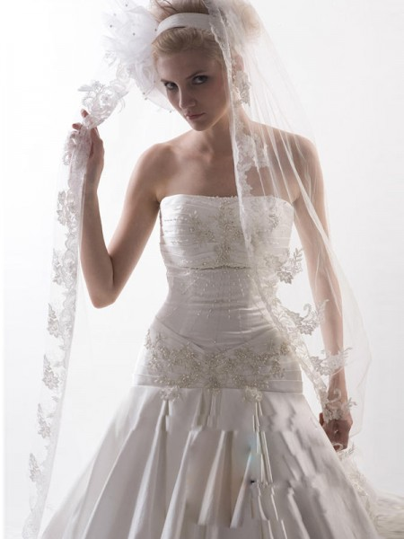 Flower Tulle Wedding Veils