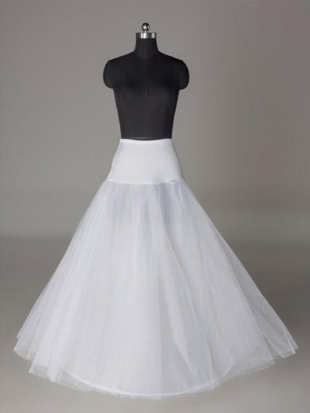 Tulle Netting A-Line 2 Tier Floor Length Slip Style/Wedding Petticoats