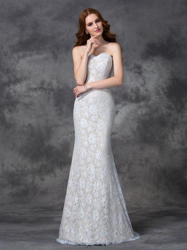 Trumpet/Mermaid Sweetheart Applique Sleeveless Long Satin Bridesmaid Dresses