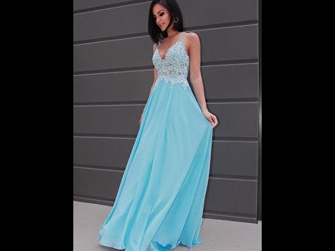 A-Line/Princess Chiffon Applique Sleeveless V-neck Sweep/Brush Train Dresses